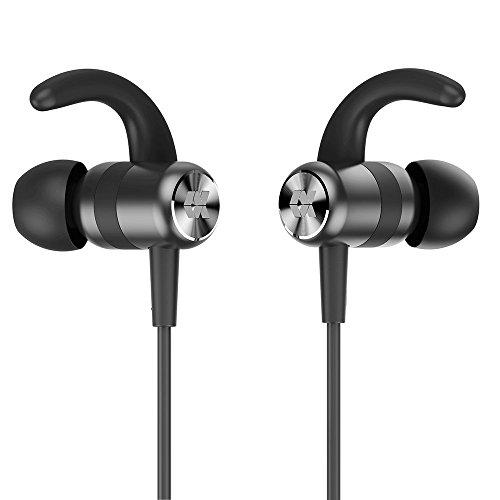 Proxelle Bluetooth Kopfhörer in ear Sport Stereo IPX5 Wasserschutz 4.2 magnetisch wireless headphones und kabellos Ohrhörer Metall mit Mic für Joggen Laufen Fitness tragbar für iPhone, Android Gerät SOLO (Bluetooth Ohren Für Headset Kleine)