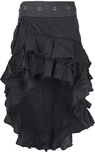 Guru-Shop Psytrance Goa Pixi Minirock, Wickelrock, Stufenrock, Damen, Schwarz, Baumwolle, Size:One Size, Kurze Röcke Alternative Bekleidung -