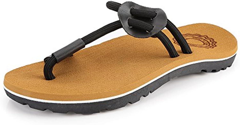 2018 Sandales, plage Hommes occasionnels Thong tongs chaussures corde plage Sandales, pantoufles anti-dérapant souple sandales... 6d017c