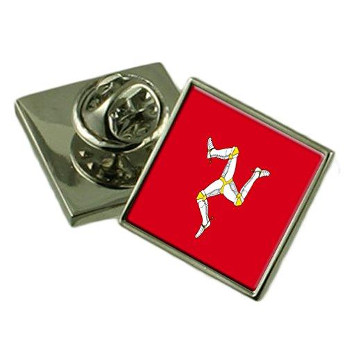 Isle of Man Flagge Anstecknadel Abzeichen Massiv Silber 925