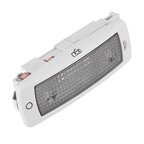 Map Light - 1 PC di illuminazione per interni auto Top LED, plafoniera per soffitto posteriore Mappa Dome Map Light, luci di cortesia per porta targa (beige e sliver) (Colore : Argento)