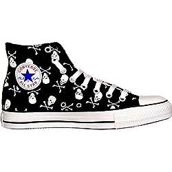 Converse All Star calavera Chuck Taylor HI Black/White Skull