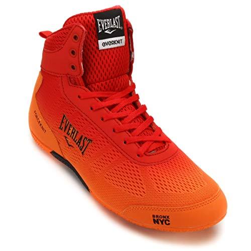 Everlast, Boxschuhe Force Knit - blau orange Mid Low Top Boxerstiefel Herren Männer rot/orange 46 (12)