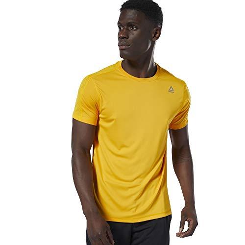 Reebok Herren Trainingsshirt Kurzarm gelb (510) M - Reebok 510