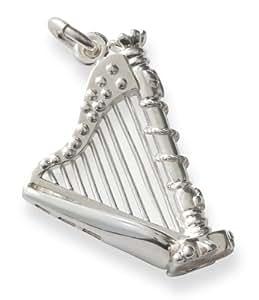 Pendentif - Harpe - Argent massif 925 - Poids 5 grs