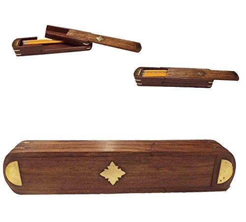 Boîte en bois de crayon de stylo avec la conception de marqueterie et le porte-stylo personnalisé de porte de glisseur, jour de Pâques / fête des mères / bon cadeau de vendredi