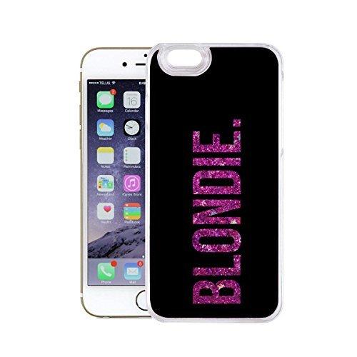 finoo | Iphone 7 Flüssige Liquid Lila Glitzer Bling Bling Handy-Hülle | Rundum Silikon Schutz-hülle + Muster | Weicher TPU Bumper Case Cover | Tweety Happy Blondie Black