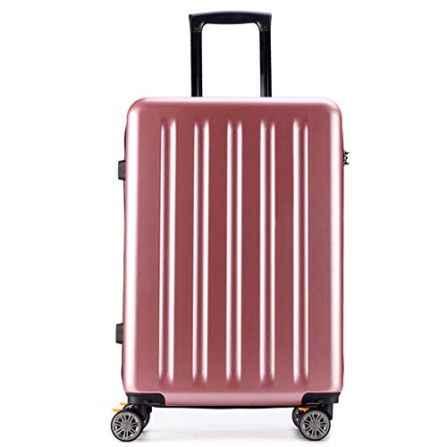 TY&GH Valise Mobile Abs Rigide À Deux Roues - Grande, Moyenne Et Petite Valise Anti-Rayures - 5 Tailles - avec Serrure Douanière Tas - Noir,Pink,28In