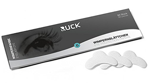 RUCK Wimpernfarbe Wimpernblättchen Wimpernfärbeschutz beim Wimpernfärben, 96 Stück