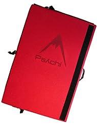 Psychi - Almohadilla triple para escalada, con correas, rojo, 90*180*12.5cm