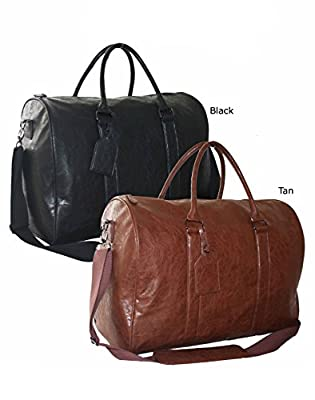 New Large Faux Leather Bag Sports Gym Travel Golf Luggage Holdall Weekend Duffle