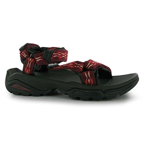 Teva Damen Terra Firma Sandalen Sommer Freizeit Schuhe Outdoor Klettverschluss Red/mandang 3