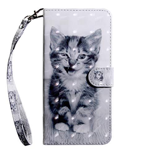 Galaxy A50s Hülle, PU Leder Wallet Tasche für Samsung Galaxy A50s Flip Brieftasche Schutzhülle Bookstyle Handyhülle Schale PC Case mit Trageschlaufe Standfunktion Cover Stoßdämpfung Handy Hülle