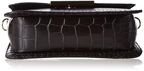 Buffalo BAG 214AB0382 CROCO PU 172791 Damen Umhängetaschen 21x16x7 cm (B x H x T) Schwarz (Black 01)