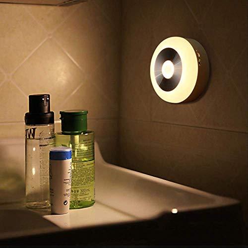 lichen Körpers Nachtlicht Körperbewegung Lichtsensor Gang Treppe Energiesparende Beleuchtung Led Mini DeckeWarmweiß ()