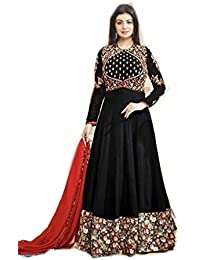 Floor Length Anarkali Dress (semi-stitched) Heavy Embroidery