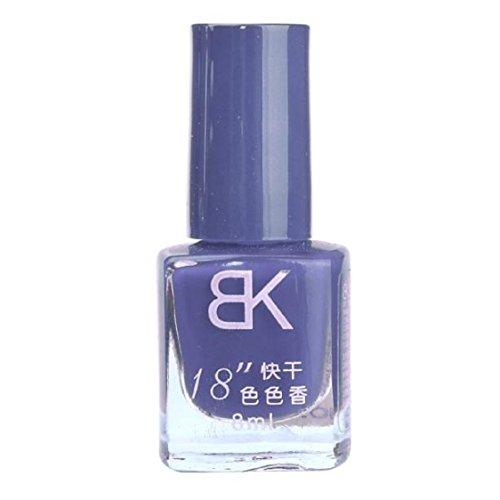 Vovotrade 1pcs 8 ml Liquid Nail Art Nail Colorful polonais vernis à ongles Nail Oil_K
