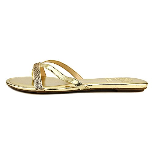 Vince Camuto Folly Femmes Cuir Tongs Summer Gold