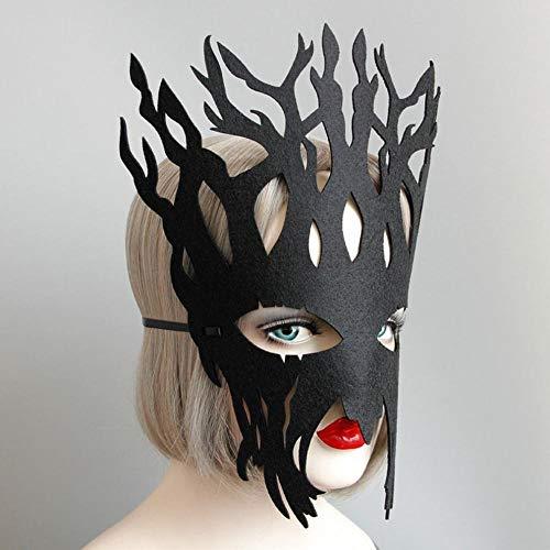 ungen Und Mädchen Große Baum Maske Schule Rollenspiel Halloween Party Requisiten Schmuck,schwarz,1 ()