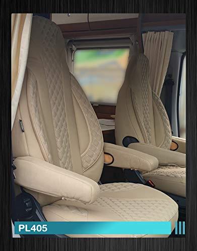 Maß Sitzbezüge Fiat Ducato Fahrer & Beifahrer ab BJ 2006 Farbnummer: PL405