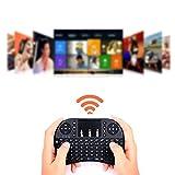 Mioloe Mini Teclado inalámbrico Touch Pad Mouse Combo con botón de Desplazamiento de Mano LED retroiluminado para PC/Smart TV