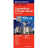 Rand McNally State Map Connecticut / Rhode Island: Easy to read!