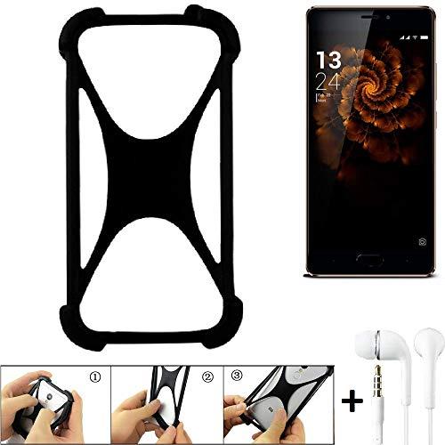 K-S-Trade Handyhülle für Allview X3 Soul Pro Schutzhülle Bumper Silikon Schutz Hülle Cover Case Silikoncase Silikonbumper TPU Softcase Smartphone, schwarz (1x), Headphones