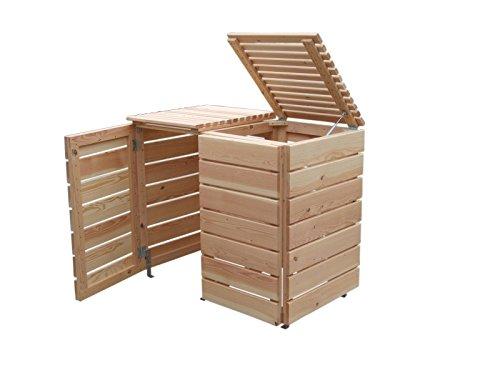 Mülltonnenbox Holz, Modell Bilmer, für vier 240 Liter Mülltonnen - 2