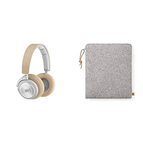 B&O PLAY 1108729  Kopfhörerbeutel aus Stoff Grau + H9i Bluetooth Over-Ear Kopfhörer (drahtloser, Active Noise Cancellation, Transparenz-Modus und Mikrofon) natural thumbnail