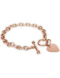 Acero Inoxidable Love Never Fails (El amor nunca falla) 1 Corintios 13: 6-8 Encanto del Corazón del Grabado Pulsera y Collar