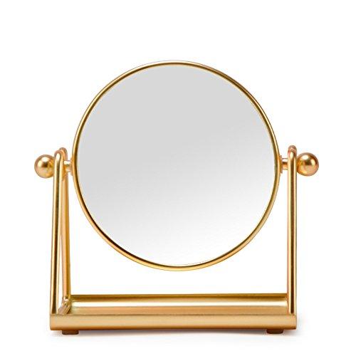 LE 4-Zoll Schminkspiegel Tischplatte 360 ° Schwenk Make-up Spiegel High Definition...