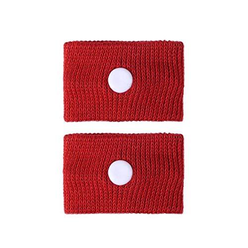 GAOXUQIANG 1 para Anti Übelkeit Handgelenkstütze Sport Sicherheit Armbänder Autokrankheit Seekrankheit Anti Bewegungskrankheit Handgelenkbänder,Red -