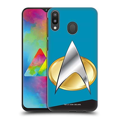 Head Case Designs Offizielle Star Trek Wissenschaften Uniformen Und Plaketten TNG Harte Rueckseiten Huelle kompatibel mit Samsung Galaxy M20 (2019) (2019 Uniform Star Trek)