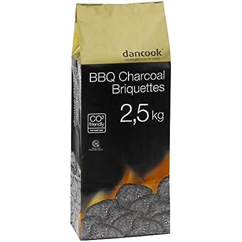 Dancook 130132 Carbon Bric carbonella vegetale di alta qualità 2,5 kg - Naturale Lawn Care