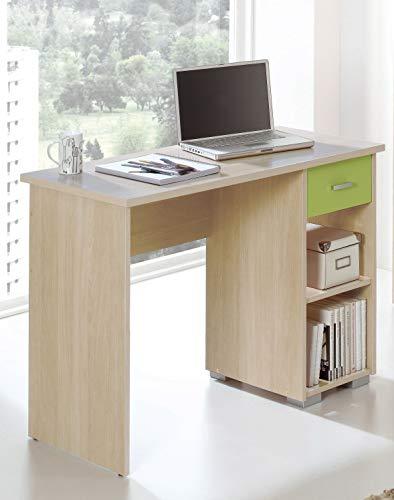 Miroytengo Mesa Escritorio Ordenador 1 Cajon 2 Huecos habitacion Juvenil despacho Oficina Color Haya Pistacho 75x100x50