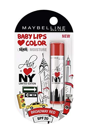 Maybelline Alia ama Labios Nueva York bebé protector labial, Broadway Rojo, 4g