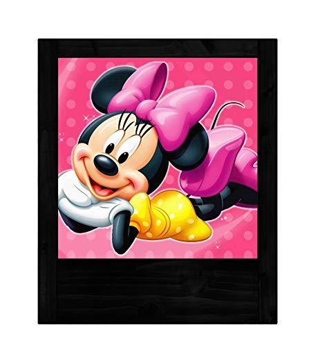 Schwarze Holzlampe Minnie Maus - Maus-markt Minnie