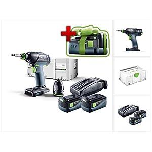 Jetzt mit GRATIS AKKU: Festool T 18+3 Li Plus Akku Bohrschrauber + 2x Akku 5,2Ah + Ladegerät + systainer (574756)