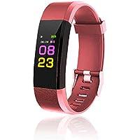 maju SmartFit Fitness Tracker Actividad banda Fitness pulsera corazón–Rastreador de fitness rojo