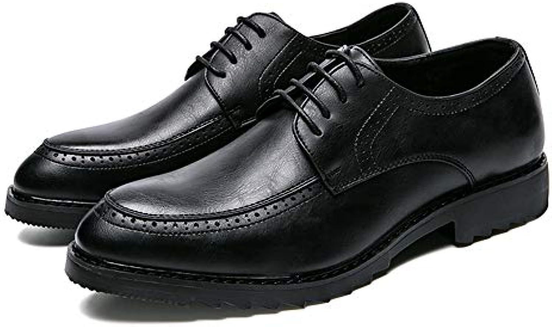 Yajie-scarpe, Men's Comfort Low Top Top Top Stringato con Scarpe Casual Oxford Stile Formale Moda Britannica (Coloree   Nero... | Grande Vendita Di Liquidazione  | Gentiluomo/Signora Scarpa  f277dc