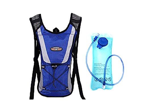 niceEshop(TM) Hydration Rucksack Klettern Tasche mit Wasser Blasen Beutel Blau Beutel