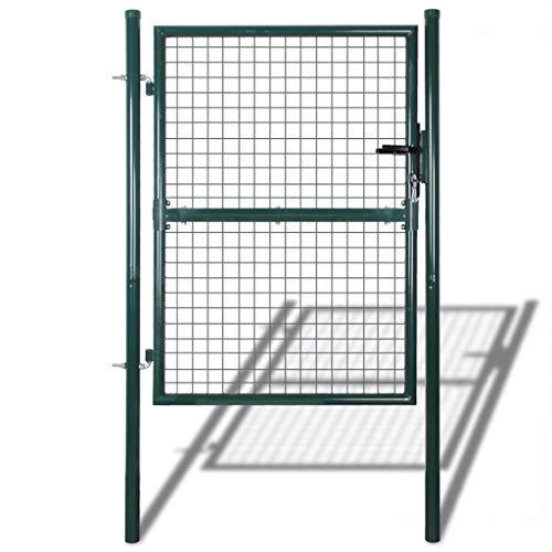 vidaXL Cancello Recinto per Giardino in Rete 85,5x125 cm/100x175 cm Recinzione