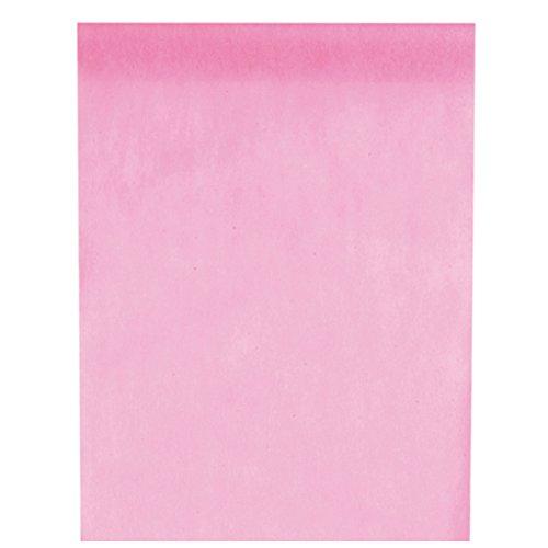 m lang) Tischläufer Deko-Vlies Party Hochzeits-Dekoration (rosa) ()