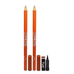 Mars Lip & Eye Liner Pencil 2PCs With Free Laperla Kajal