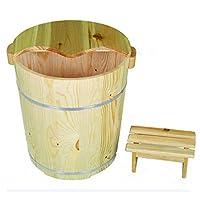 ZCRFY Foot Massagers Pedicure Basin Foot Bath Bucket 40cm High Foot Bath Home Wood Footbath Wood Adult Foot Bucket Healthy Pedicure