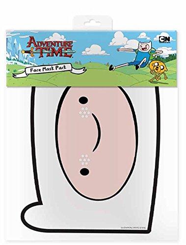 Finn - Adventure Time Maske Papp Maske, aus hochwertigem Glanzkarton mit Augenlöchern, Gummiband - Grösse ca. 30x20 (Kostüm Finn Herren Time Adventure)