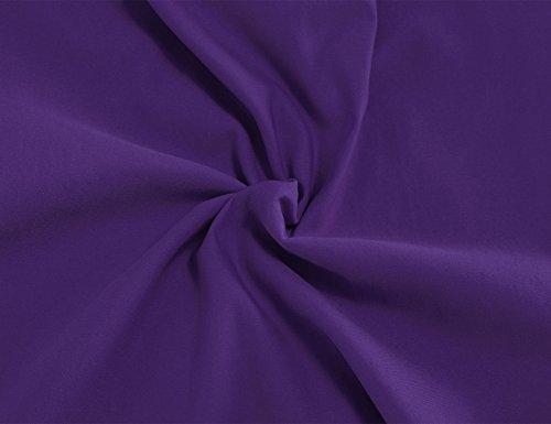 MUXXN Rétro col rond manches courtes Pencil robe de soirée de 1950 femmes Violet