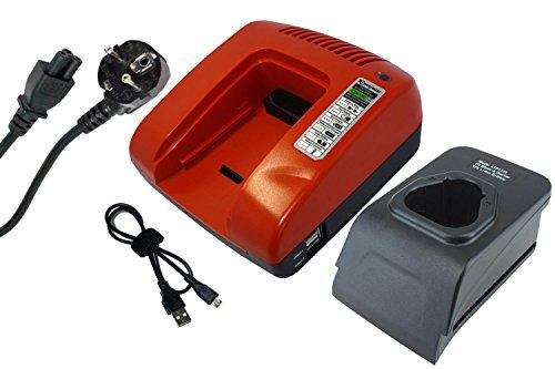 Preisvergleich Produktbild PowerSmart® 12V Ladegerät für Black & Decker BDCDMT112, EGBL108, EGBL108KB, GKC108, HPL106, HPL10IM, HPL10RS, LDX112, LDX112C, PSL12 (Rot)