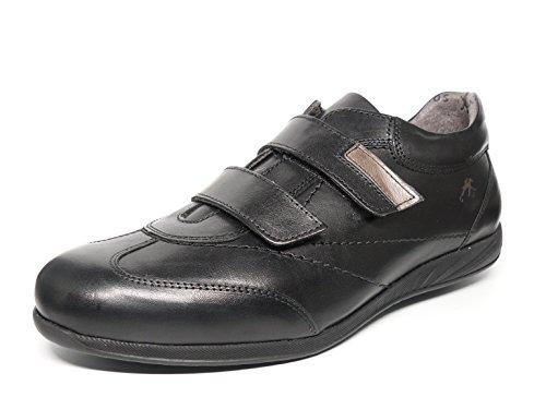 Chaussures Homme Fluchos–Fermeture Velcro en cuir Noir