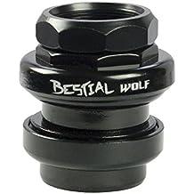 Bestial Wolf Head Dirección, Negro, Talla Única